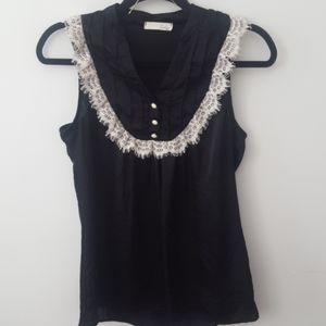 LUSH sleeveless Lace detail Top